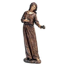 Statua bronzea ragazza gettafiori 110 cm per ESTERNO s1