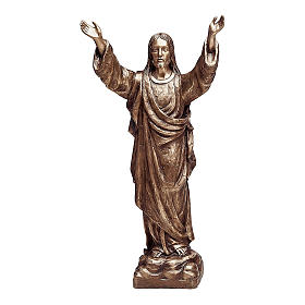 Statue of Redeeming Christ in bronze 75 cm for EXTERNAL USE s1
