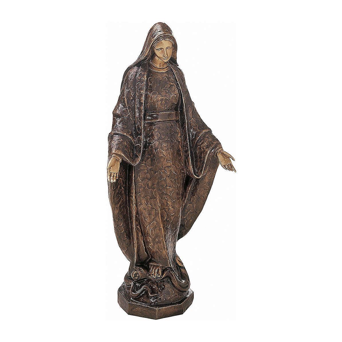 Statue en bronze Sainte Vierge de la Médaille Miraculeuse 125 cm pour EXTÉRIEUR 4