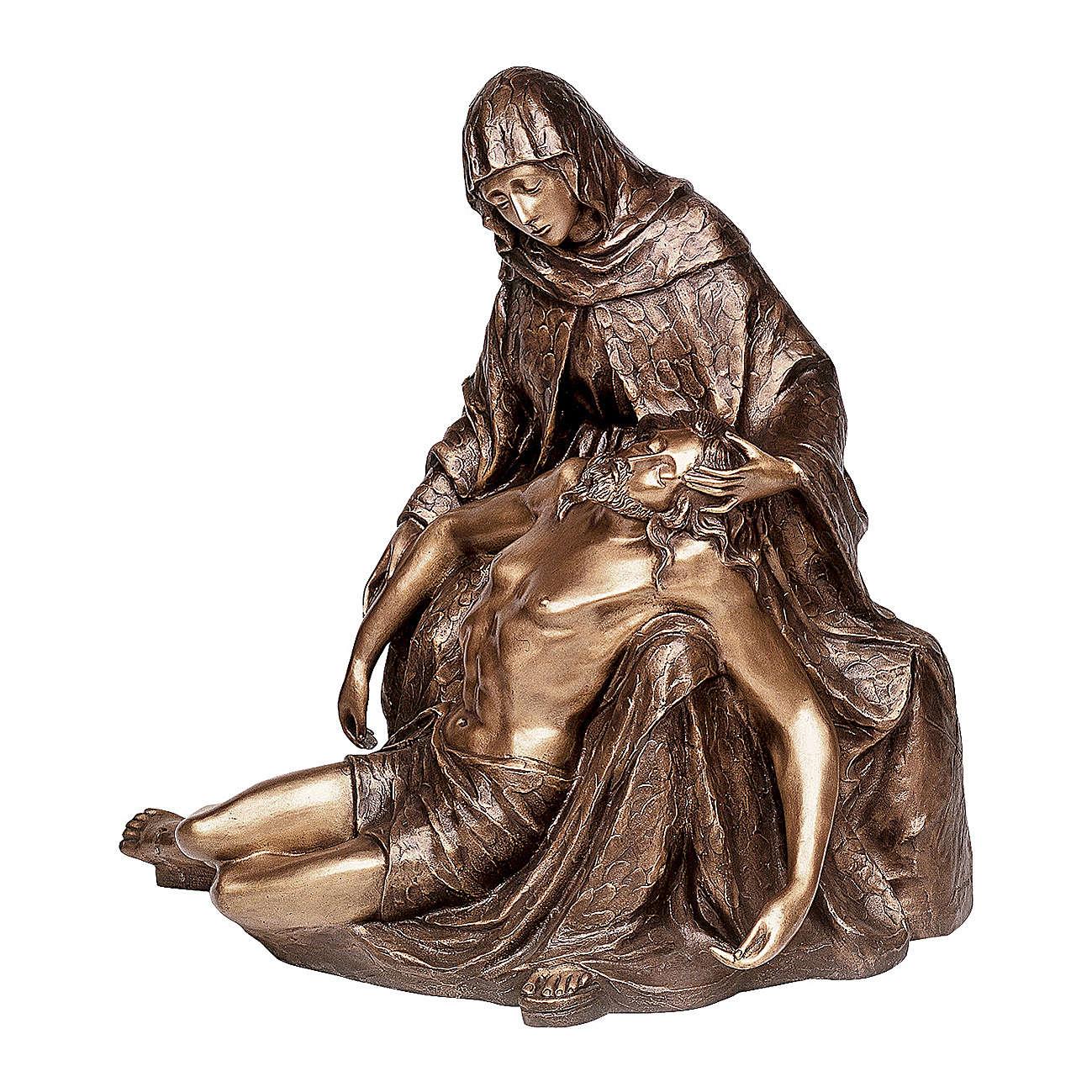 Statua bronzea Particolare Pietà 85 cm per ESTERNO 4