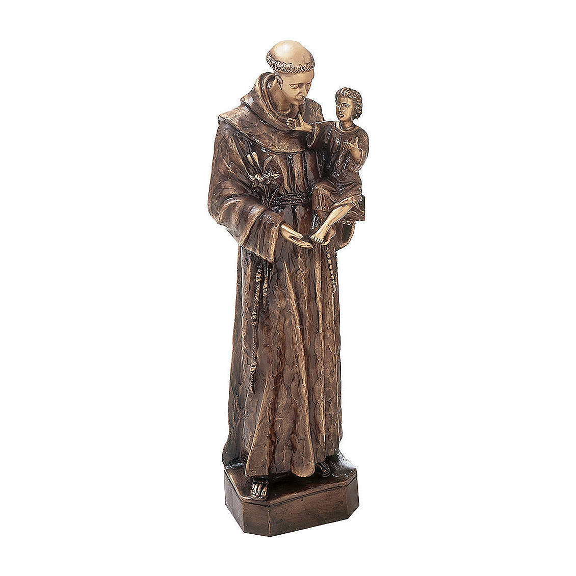 Statue of St. Anthony of Padua in bronze 60 cm for EXTERNAL USE 4