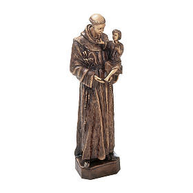 Statue of St. Anthony of Padua in bronze 60 cm for EXTERNAL USE s1