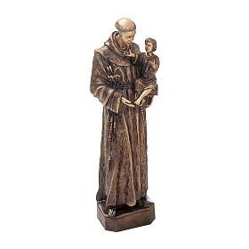 Estatua broncea San Antonio Padua 60 cm para EXTERIOR