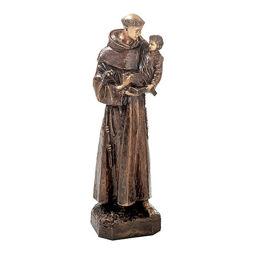 Statue of St. Anthony in bronze 80 cm for EXTERNAL USE 1