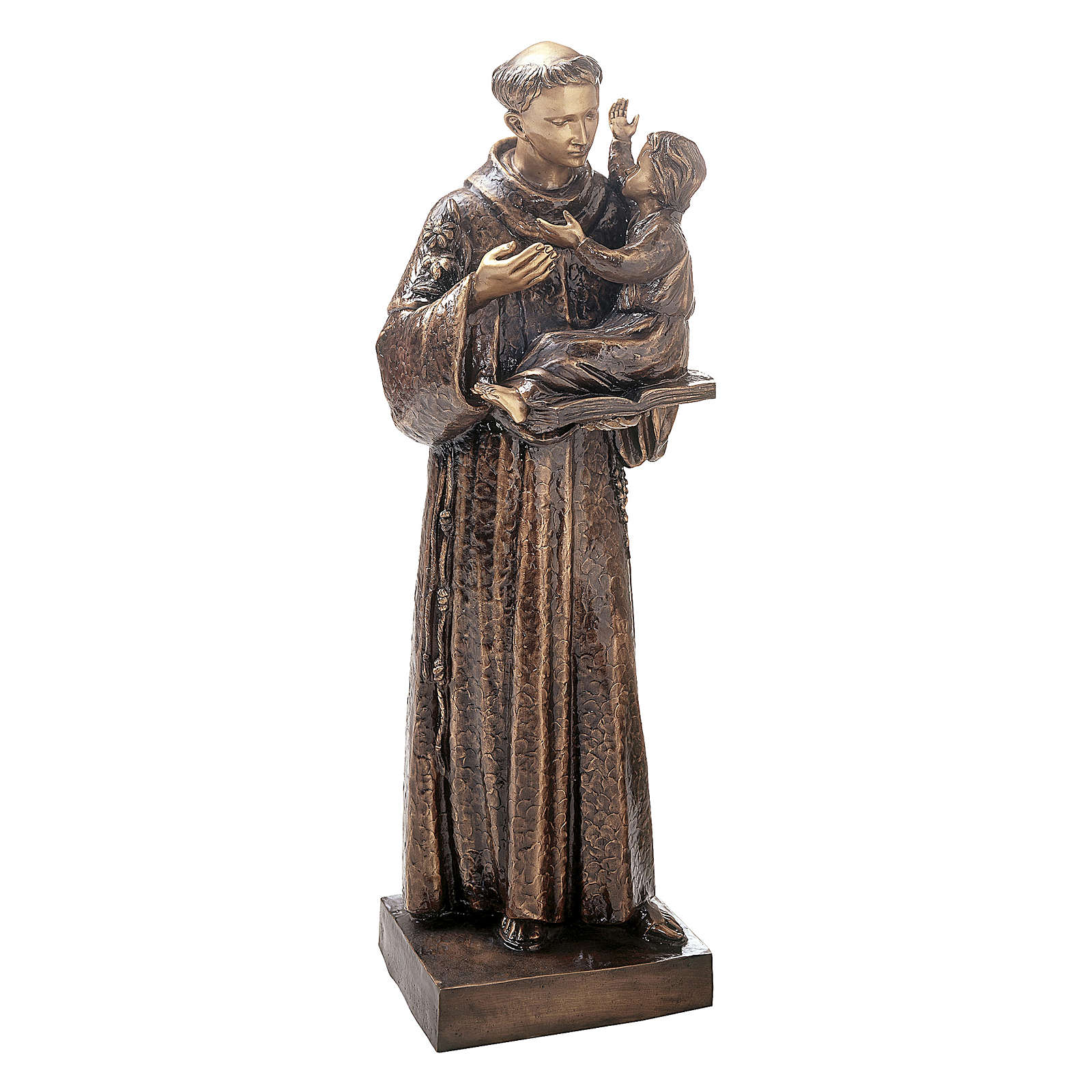 Statue Saint Antoine avec Enfant Jésus bronze 120 cm pour EXTÉRIEUR 4