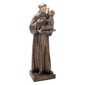Statue Saint Antoine avec Enfant Jésus bronze 120 cm pour EXTÉRIEUR s1