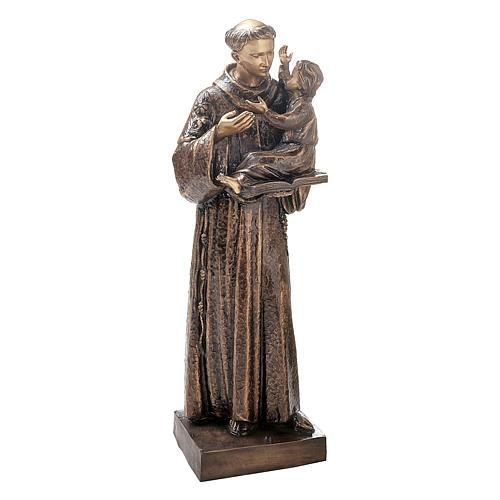 Statue Saint Antoine avec Enfant Jésus bronze 120 cm pour EXTÉRIEUR 1