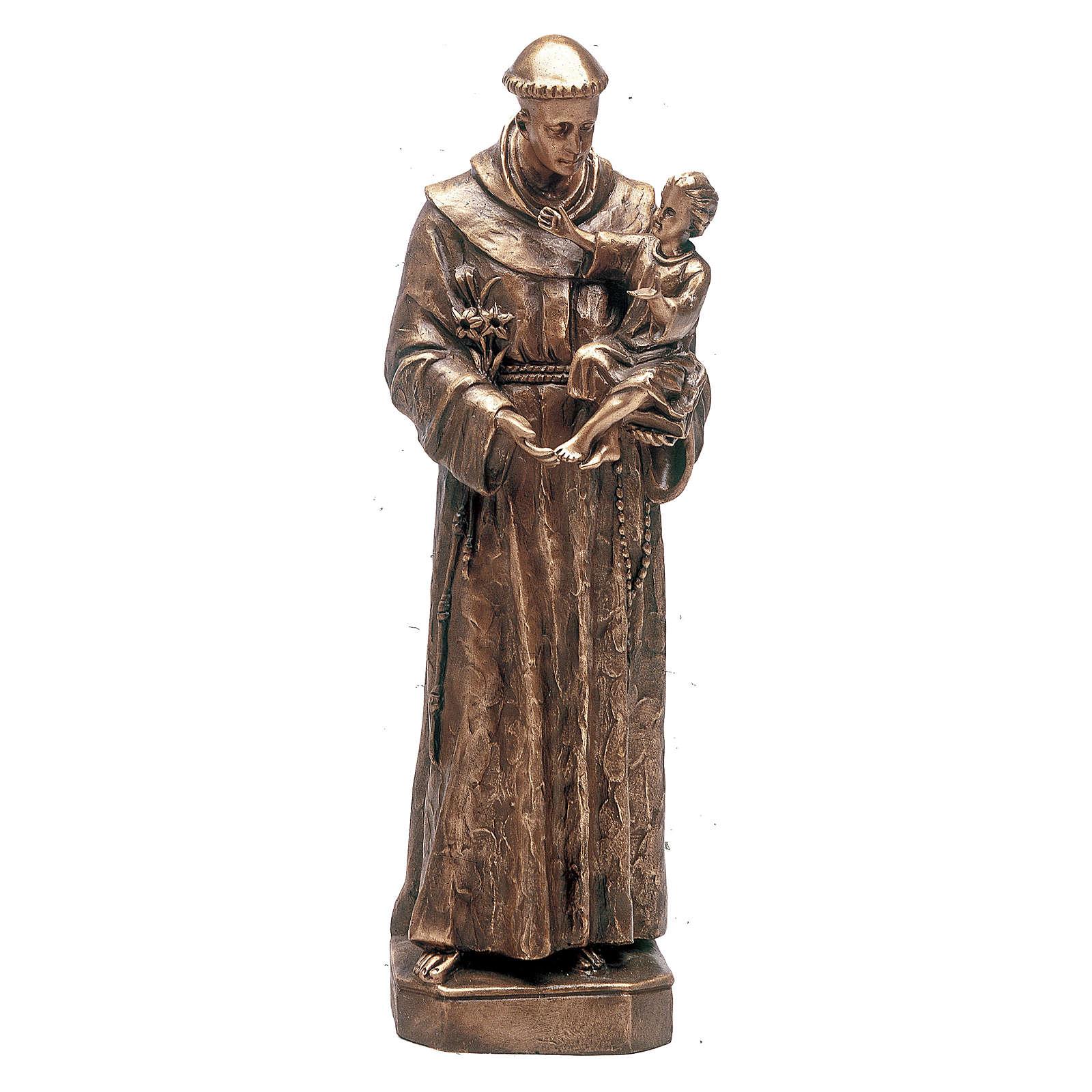 Statua Sant'Antonio Padova bronzo 160 cm per ESTERNO 4