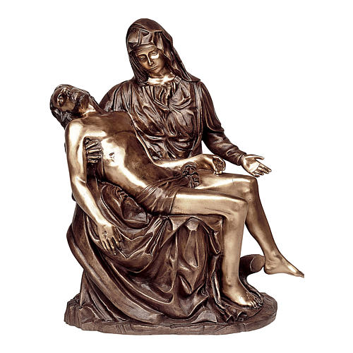 Statue of Detail of the Pietà in bronze 85 cm for EXTERNAL USE 1