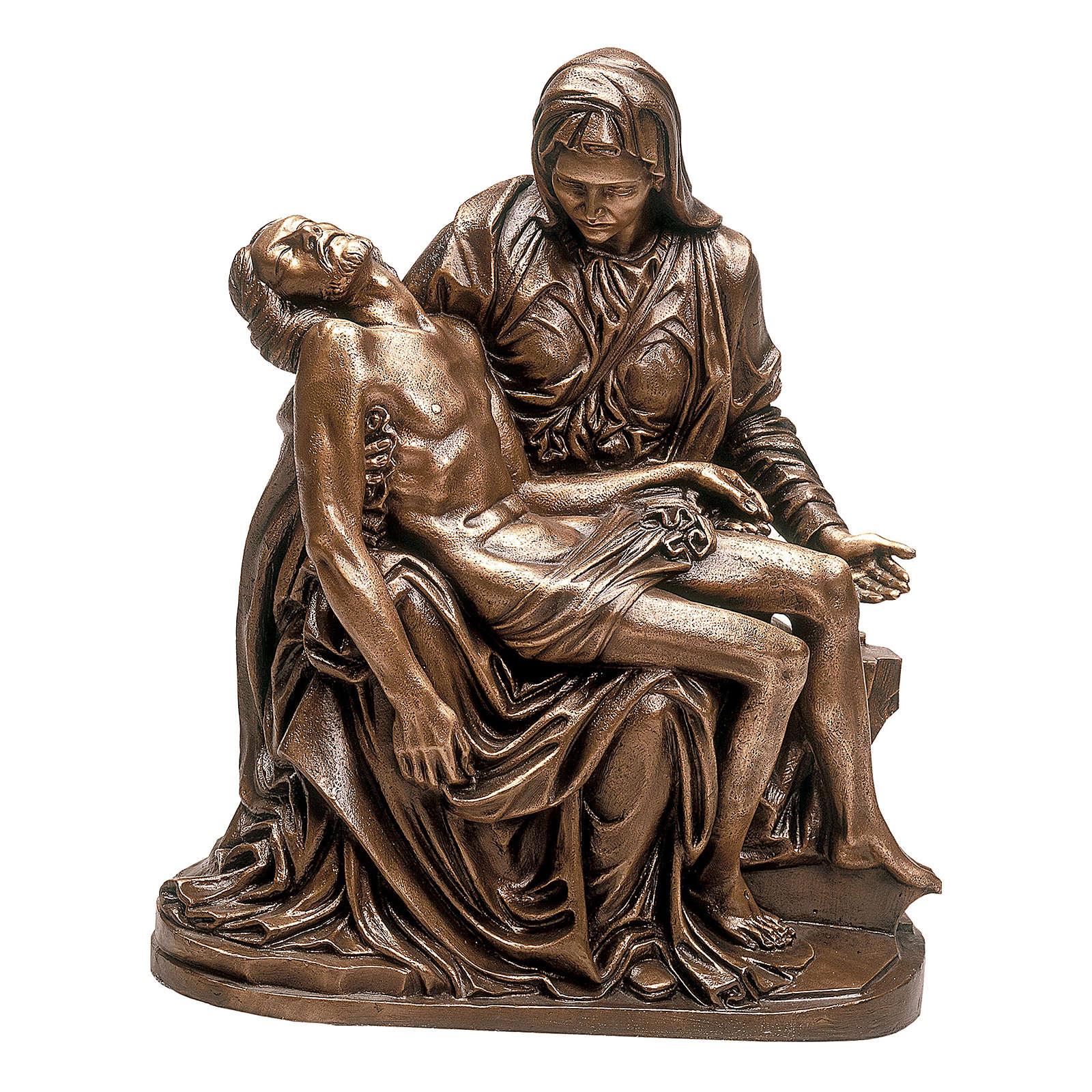 Scultura Pietà bronzo 70 cm per ESTERNO 4
