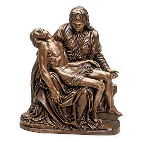 Scultura Pietà bronzo 70 cm per ESTERNO s1