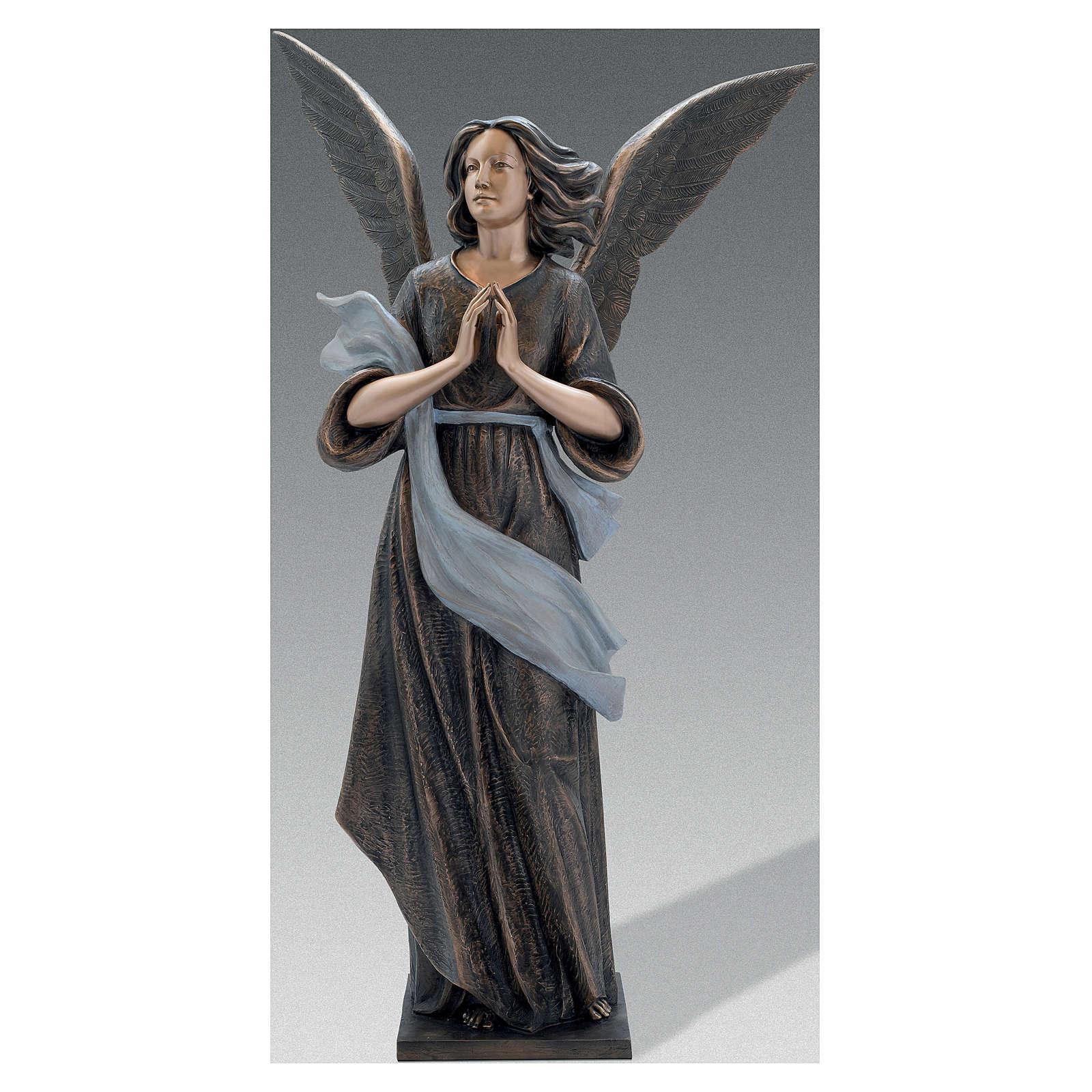Scultura Angelo Custode bronzo 210 cm per ESTERNO 4