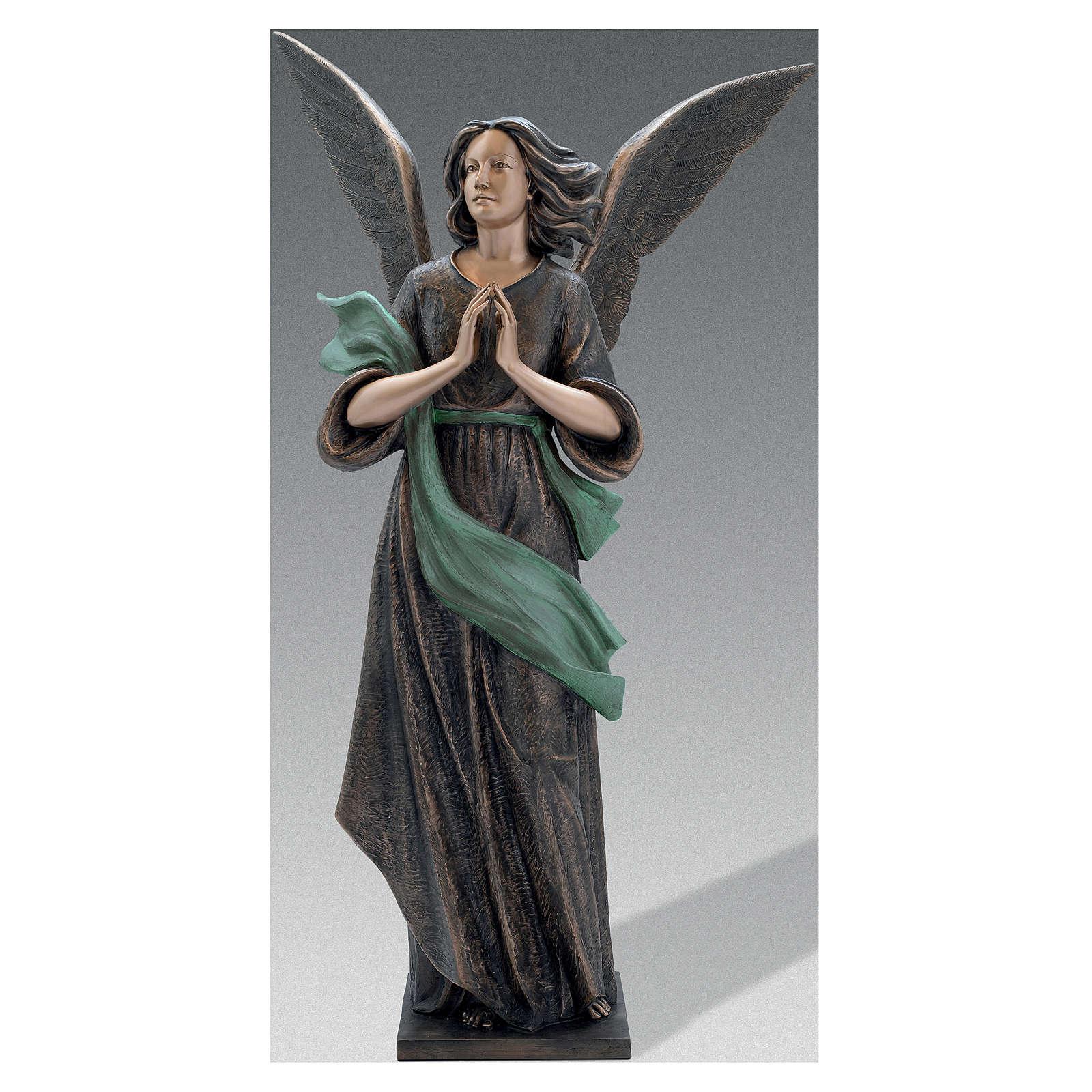 Scultura Angelo di Dio bronzo 210 cm per ESTERNO 4