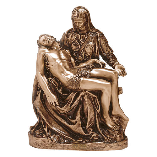 Statue of the Pietà in bronze 50 cm for EXTERNAL USE 1