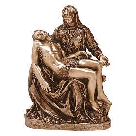 Statua bronzea Pietà 50 cm per ESTERNO s1