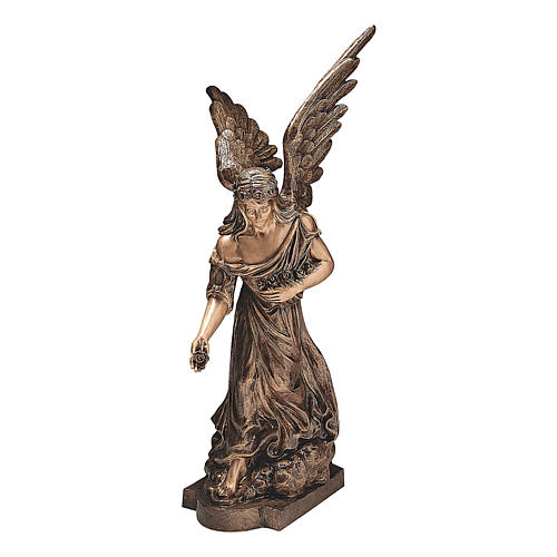 Sculpture of Angel spreading flowers in bronze 145 cm for EXTERNAL USE 1