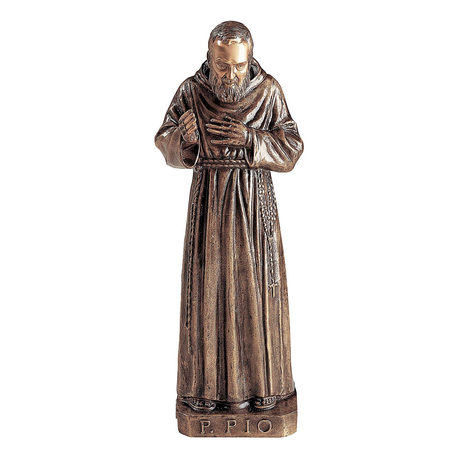 Statua San Padre Pio bronzo 80 cm per ESTERNO 4