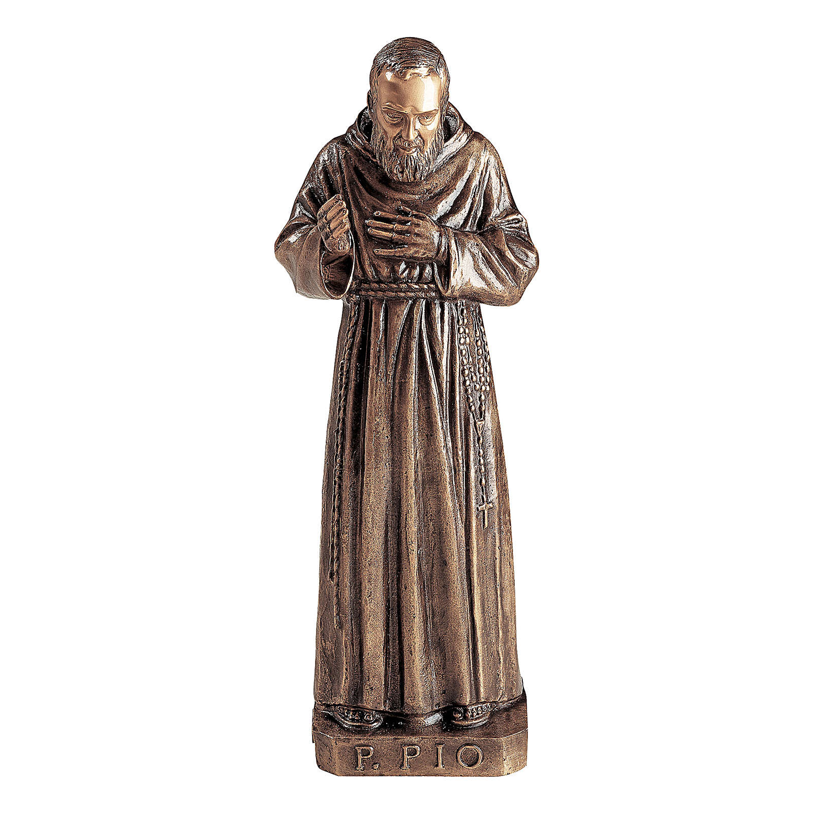 St Padre Pio Bronze Statue 80 cm for OUTDOORS 4