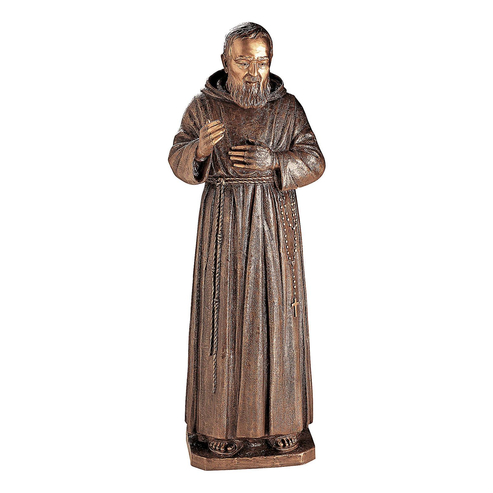 Statua Padre Pio Pietrelcina bronzo 140 cm per ESTERNO 4
