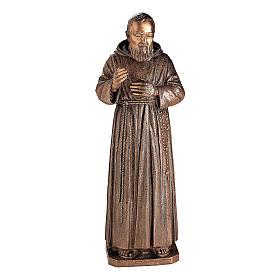 Statua Padre Pio Pietrelcina bronzo 140 cm per ESTERNO s1