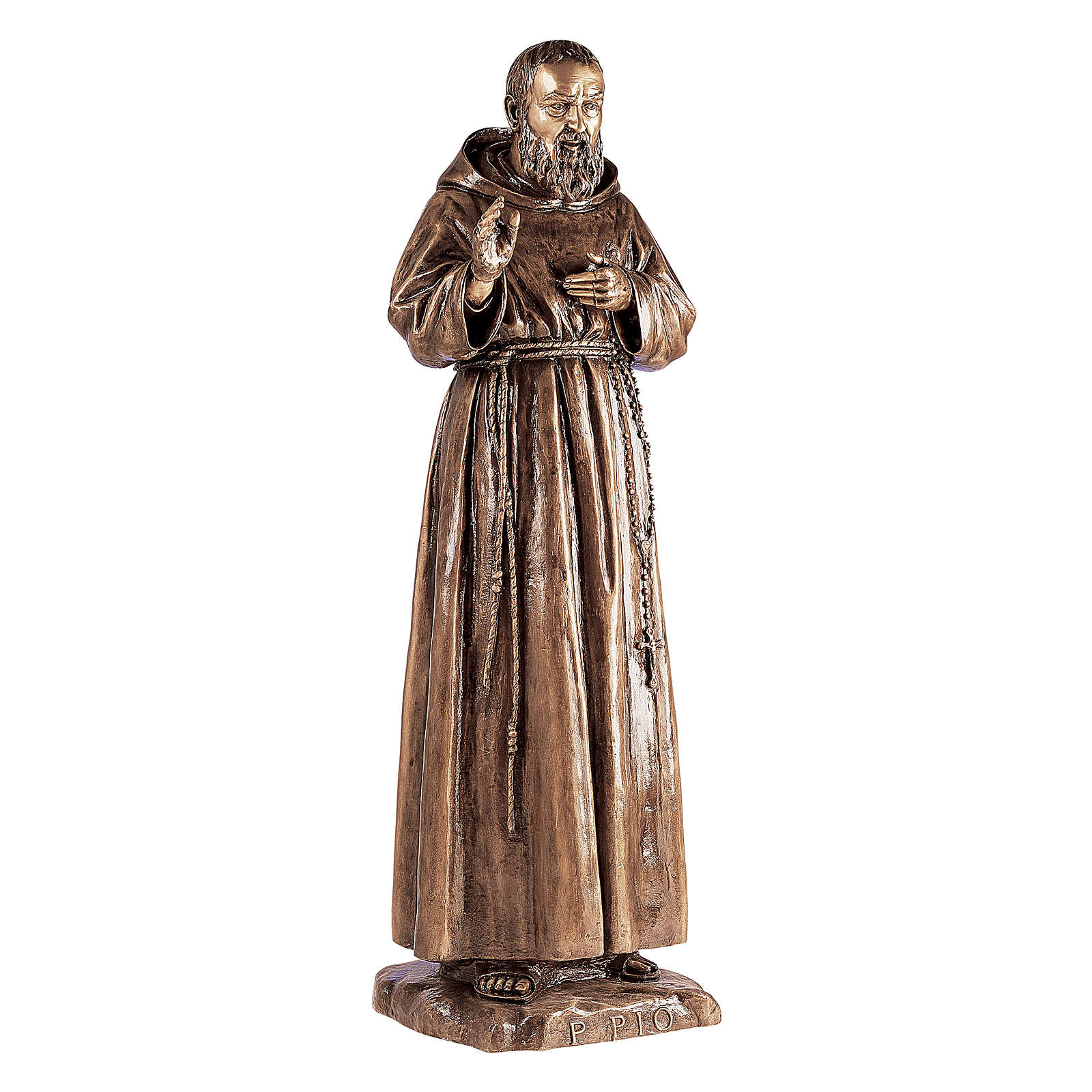 Estatua San Pío de Pietralcina bronce 180 cm para EXTERIOR 4