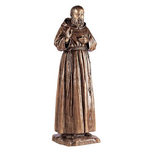 Statue Saint Pio de Pietrelcina bronze 180 cm pour EXTÉRIEUR 1