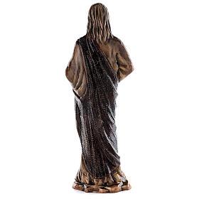 Imagem Sagrado Coração Jesus bronze 60 cm para EXTERIOR s6