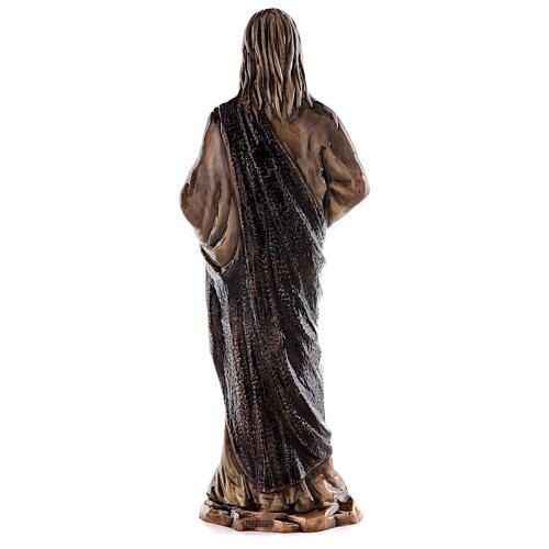 Imagem Sagrado Coração Jesus bronze 60 cm para EXTERIOR 6