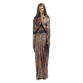 Bronze Virgin Mary Statue 100 cm for OUTDOORS s1