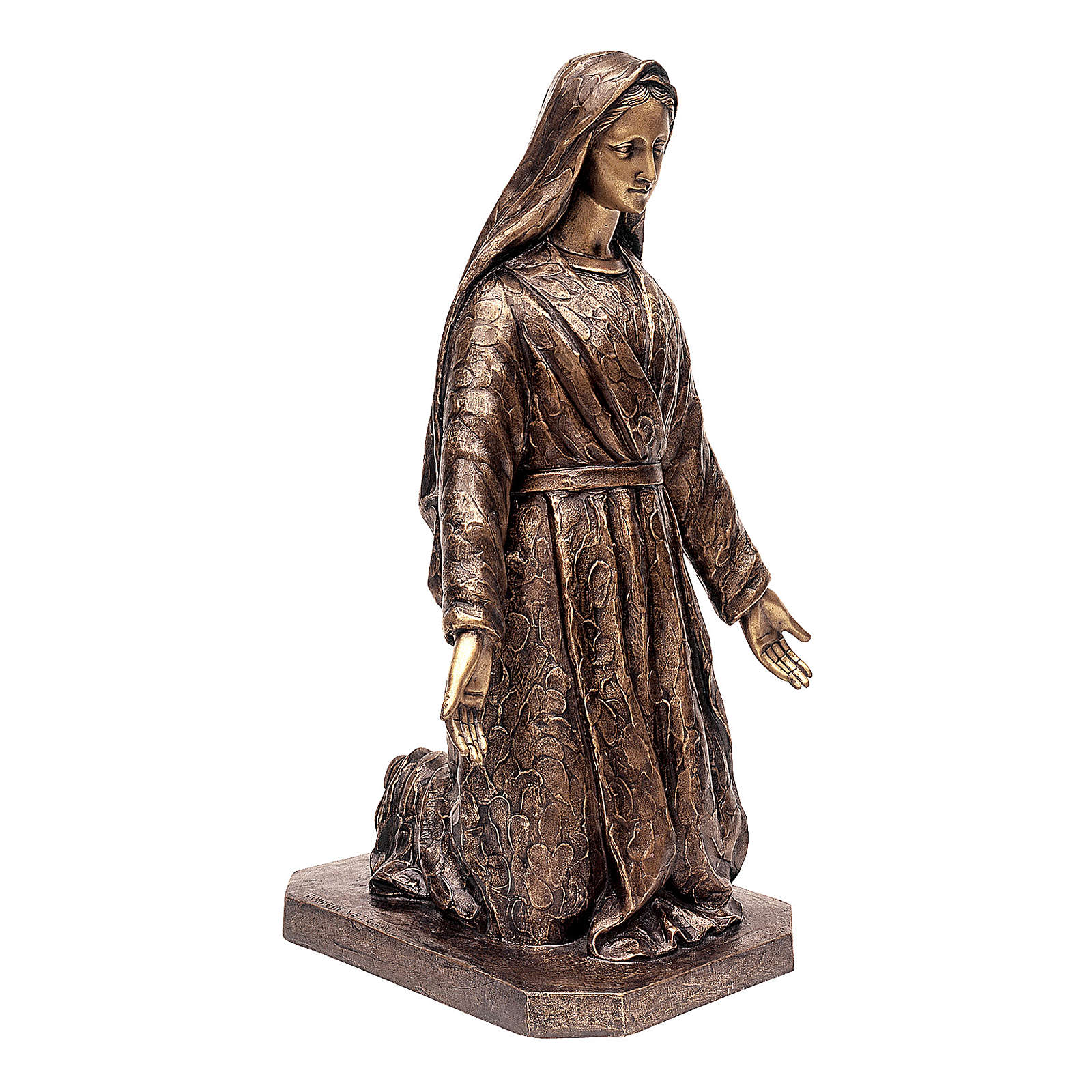 Funeral Statue Madonna Kneeling 65 cm for OUTDOORS 4