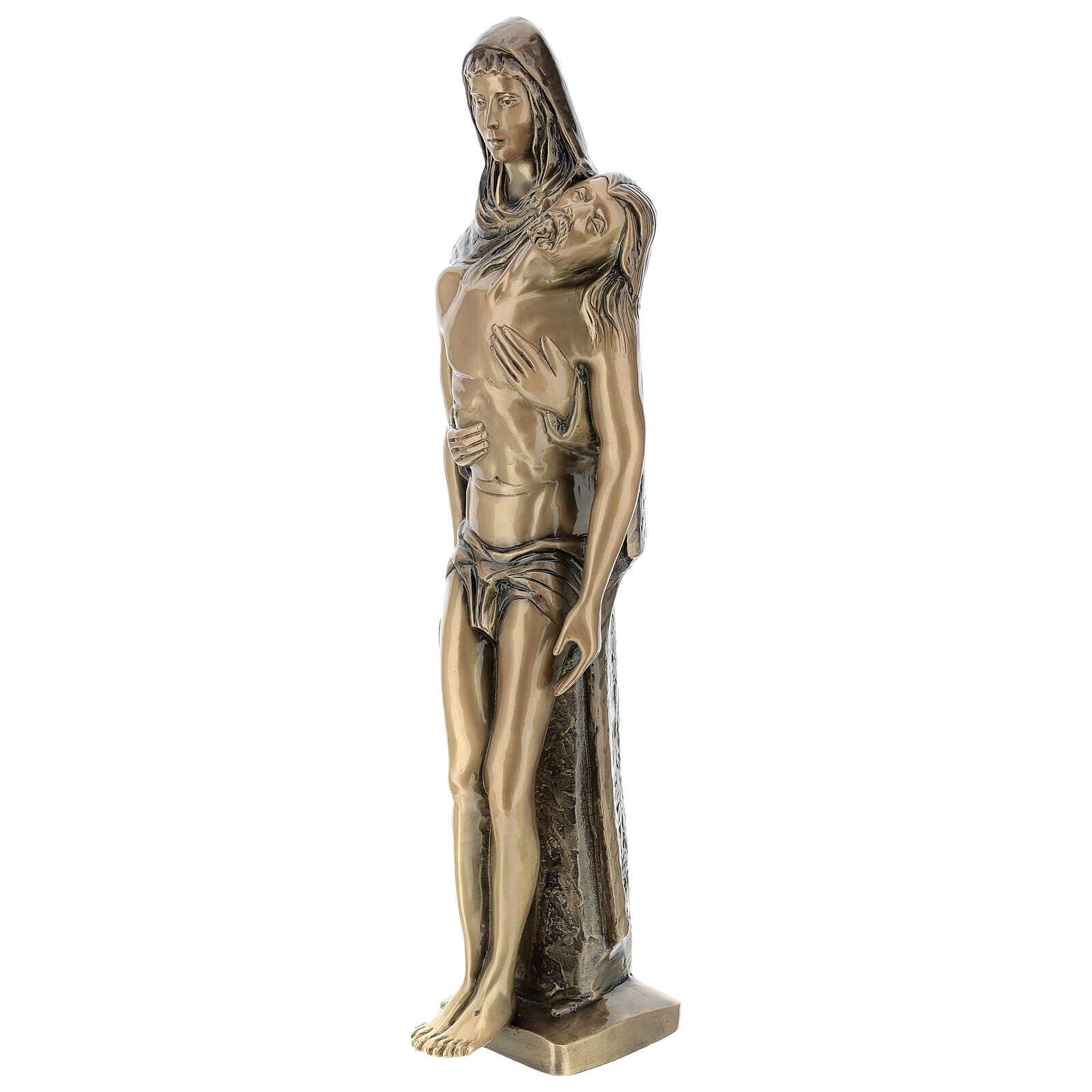 Pietà in piedi statua bronzo PER ESTERNO 80 cm 4