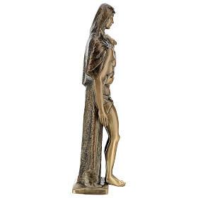 Pietà in piedi statua bronzo PER ESTERNO 80 cm s9