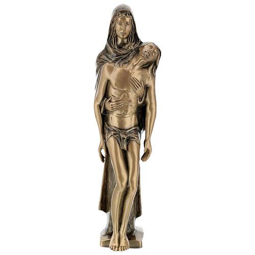 Pietà in piedi statua bronzo PER ESTERNO 80 cm 1