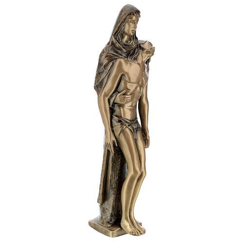 Pietà in piedi statua bronzo PER ESTERNO 80 cm 5