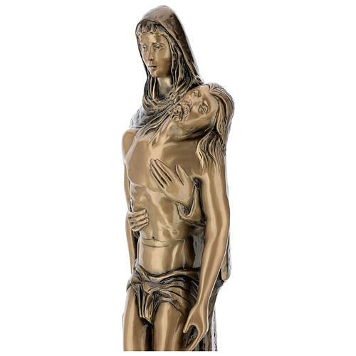 Pietà in piedi statua bronzo PER ESTERNO 80 cm 6