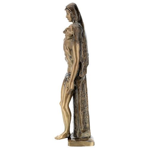 Pietà in piedi statua bronzo PER ESTERNO 80 cm 7