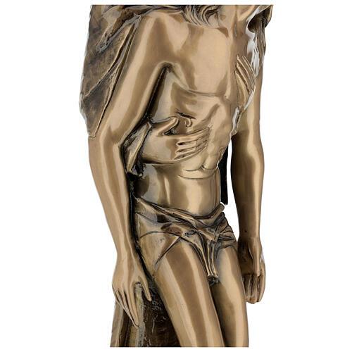 Pietà in piedi statua bronzo PER ESTERNO 80 cm 10