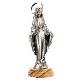 Estatua Virgen Milagrosa Madera olivo zamak 12 cm s3