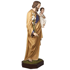 Saint Joseph with infant Jesus, fiberglass statue 160 cm s4