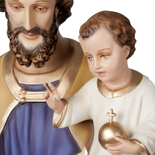 Saint Joseph with infant Jesus, fiberglass statue 160 cm 2