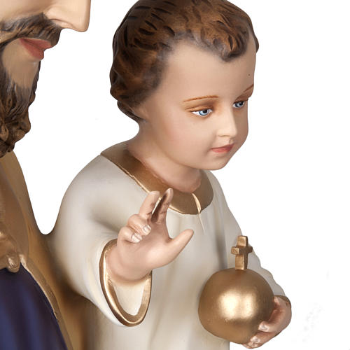 Saint Joseph with infant Jesus, fiberglass statue 160 cm 5