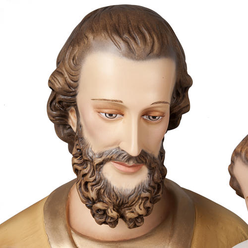 Saint Joseph with infant Jesus, fiberglass statue 160 cm 6