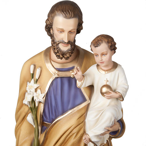 Saint Joseph with infant Jesus, fiberglass statue 160 cm 8