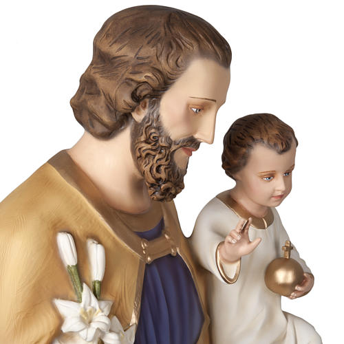 Saint Joseph with infant Jesus, fiberglass statue 160 cm 9