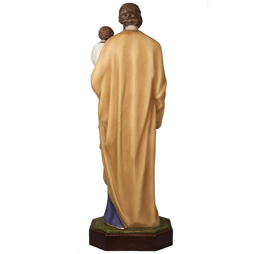 Saint Joseph with infant Jesus, fiberglass statue 160 cm 10