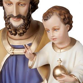San Giuseppe con Bambino 160 cm vetroresina s2