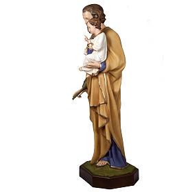 San Giuseppe con Bambino 160 cm vetroresina s3