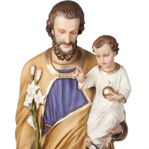 San Giuseppe con Bambino 160 cm vetroresina 8