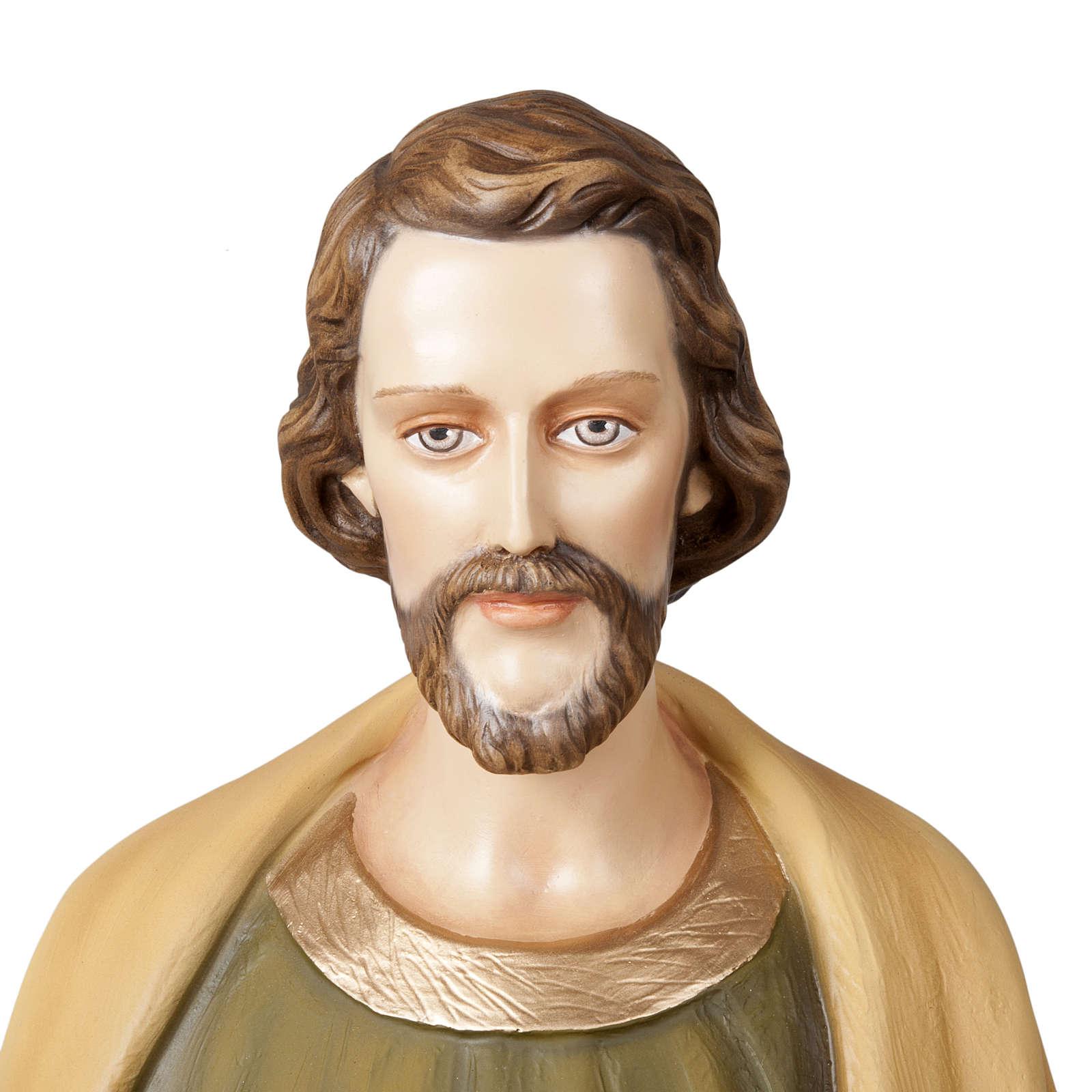 Saint Joseph the Worker  fiberglass statue, 100 cm 4