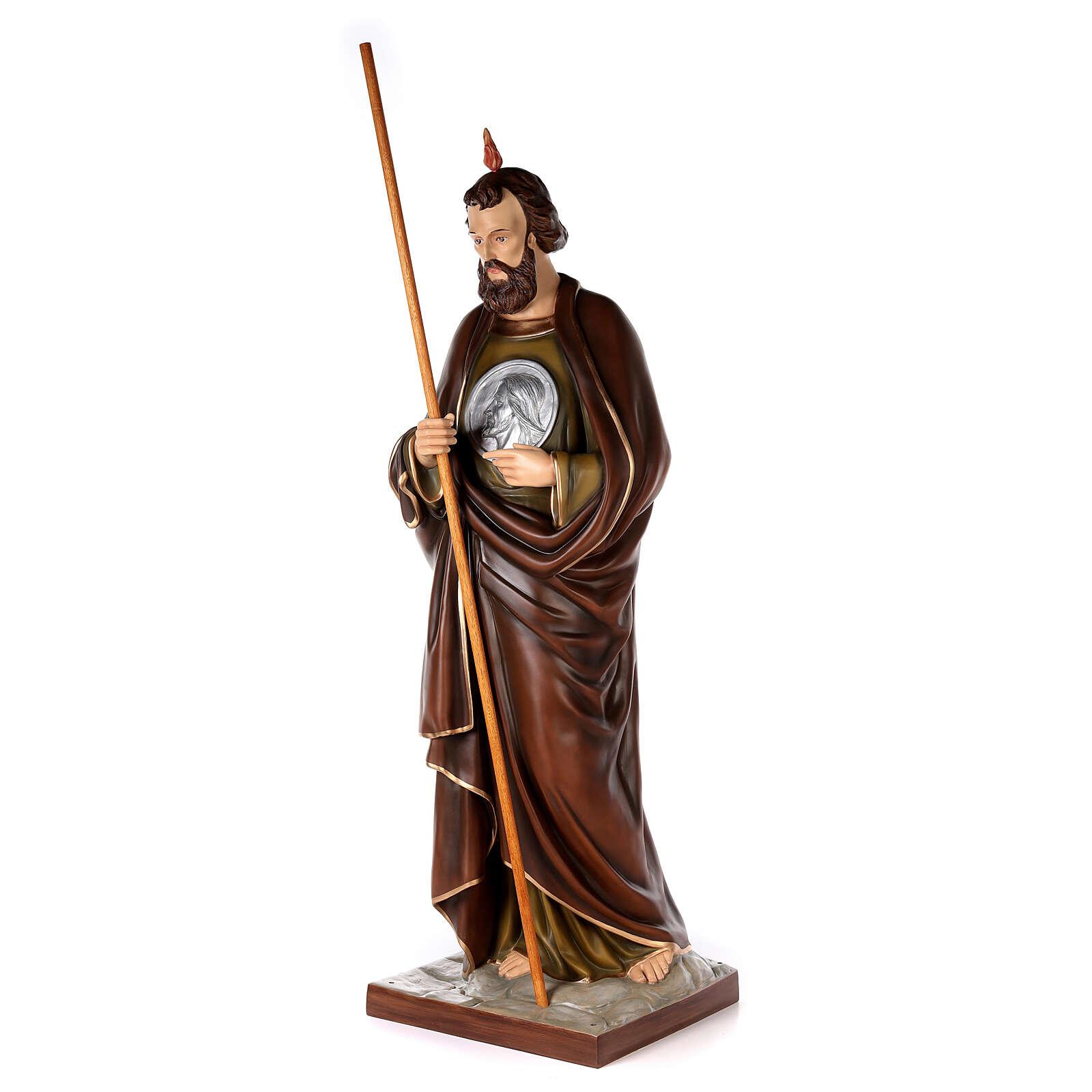 San Judas Tadeo 160cm en fibra de vidrio 4